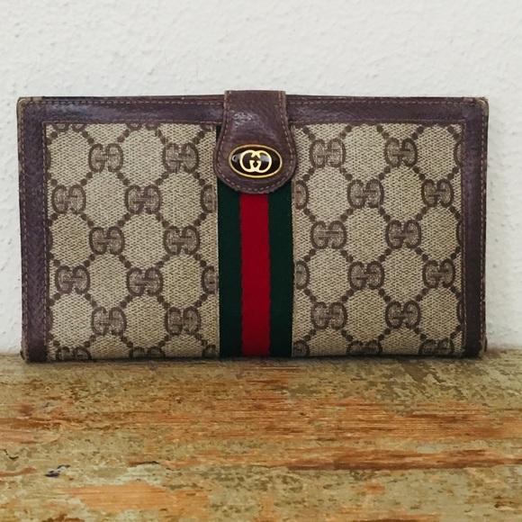 0f182f7f788c Gucci Bags | Vintage Gg Web Wallet Clutch | Poshmark